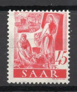 SAAR; (Saargebiet) 1947 Jan French Occ. pictorial issue Mint hinged 45pf