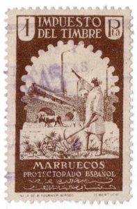 (I.B) Spain Colonial Revenue : Morroco Duty 1Pta