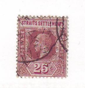 Straits Settlements Sc 161 1912 25 c G V stamp used