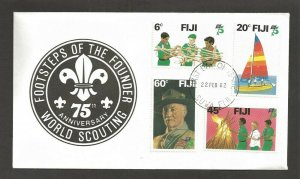 1982 Fiji Boy Scout 75th anniversary FDC