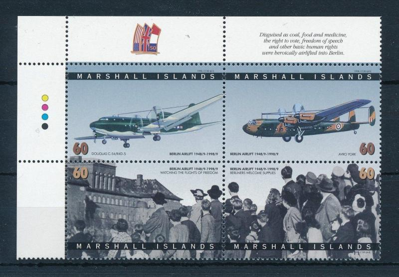 [24465] Marshall Islands 1998 Aviation 50 Years Berlin airlift MNH