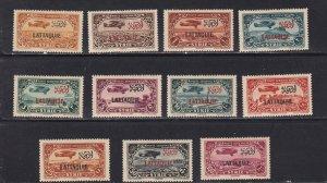 Latakia # C1-11, Overprinted Stamps, NH, 1/2 Cat.