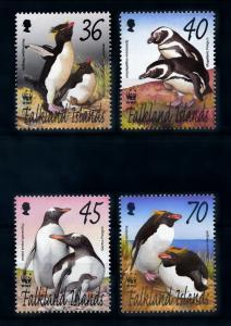 [72064] Falkland Islands 2002 Birds Vögel Oiseaux Penguins WWF  MNH