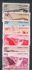 Venezuela C614-16;C618-20;C627 Used Buildings and Landscapes (V0171)