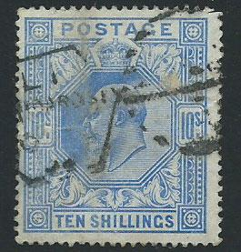 GB Edward VII  SG 265   used  at 5% cat  top right tiny p...