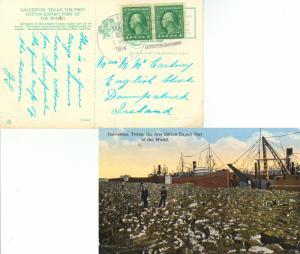 United States Texas Sabine 1914 4b-bar  1899-1964  1c Washington Franklin (2)...