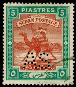 SUDAN SGA24, 5p brown & green, FINE USED. Cat £50. RSW.
