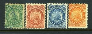 Bolivia #15-18 Great clean and nice (USED & MH) - NICE cv$157.00