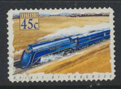 Australia SG 1412  Used  -Trains self adhesive