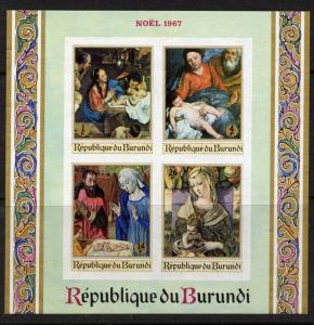 Burundi 225a imperf MNH Art, Paintings, Madonna, Carlo Crivelli