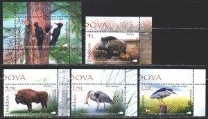 Moldova. 2018. 1037-40, bl79. Fauna of Moldova. MNH.