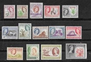 So. Rhodesia # 81-94  QE II Definitives, complete  (14)  VF Unused VLH