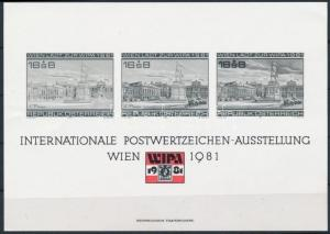Austria stamp WIPA black print 1981 Landscapes WS223814