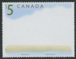 CANADA #1693a $5 MOOSE ALL ENGRAVED COLORS OMITTED MAJOR ERROR W/ CERT WLM6355