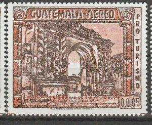 Guatemala Air Mail 1984 Earthquake Ruins Antigua Fine Architecture MNH** A4P10