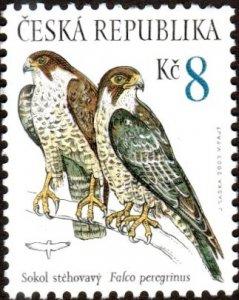 Czech Republic 3215 - Mint-NH - 8k Peregrine Falcon (2003) (cv $0.90)