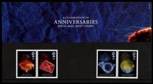STAMP STATION PERTH Great Britain # Anniversaries Presentation Pack 198 MNH