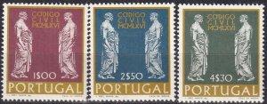Portugal #1001-3  MNH CV $3.55  (Z8019)
