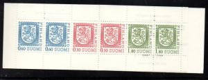 Finland Sc 713a 1989 Coat of Arms stamp booklet mint NH