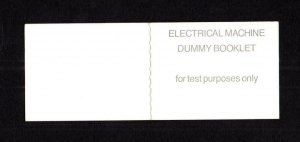 'ELECTRICAL MACHINE' DUMMY TESTING BOOKLET + CYLINDER NUMBER B81