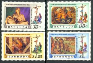 Barbuda MNH 328-31 Michelangelo Art Easter 1978