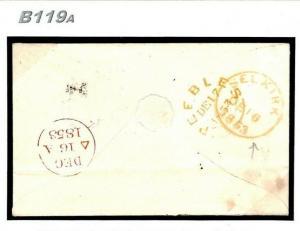 GB SCOTLAND POSTMARK RARITY *Selkirk* Skeleton CDS 1853 Cover B119a