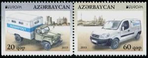 HERRICKSTAMP AZERBAIJAN Sc.# 1011A-12A EUROPA 2013 Setenant Pair