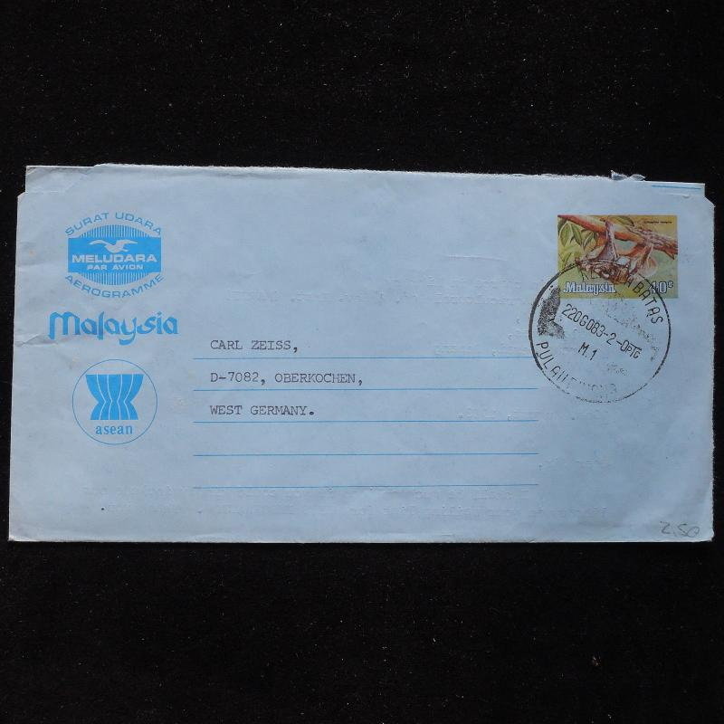 ZS-AC005 MALAYSIA - Wild Animals, 1983 To Oberkochen W. Germany,Airletter Cover