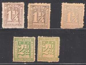 Germany (Northern District) #45 x 3 color shade and #17 used