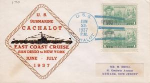 USS Cachalot SS-170, East Coast Cruise, Jun 25, 1937 (N5345)