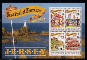 Jersey Sc 539a 1990 Festival of Tourism stamp sheet