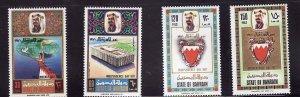 Bahrain-Sc#182-5- id7-unused hinged set-Independence-1971-