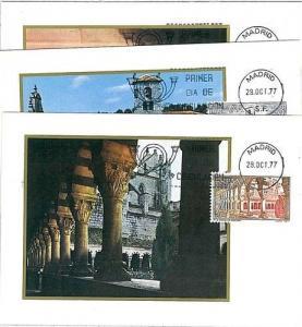 ARCHITECTURE : 3 MAXIMUM CARD - SPAIN 1977