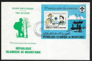 1982 Mauritania Boy Sea Scouts 75th anniversary SS FDC