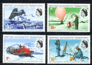 British Antarctic Territory Sc# 20-23 MH 1969 Scientific Work 35th