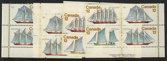 Canada #747a Mint LL #747i MS VF-NH Cat. $9.50 1977 Sailing Ships