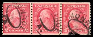 USA 492 Used Strip of 3
