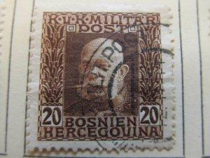 Bosnia & Herzegovina 1912-14 20h fine used stamp A13P17F35