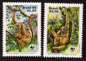Brazil Scott  1926-1927  MNH* *WWF monkey stamps