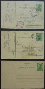 Germany WWII Occup. Serbia - 3x Postal Stationary ! serbien yugoslavia N34