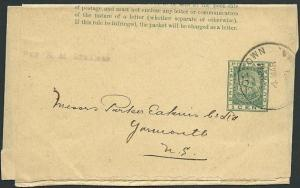 BR GUIANA 1911 1c newspaper wrapper used Georgetown to UK..................42500
