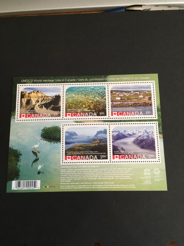 Canada #2857 VF-NH 2015 World Heritage Souvenir Sheet - Face Alone $8.60 Cat.$17