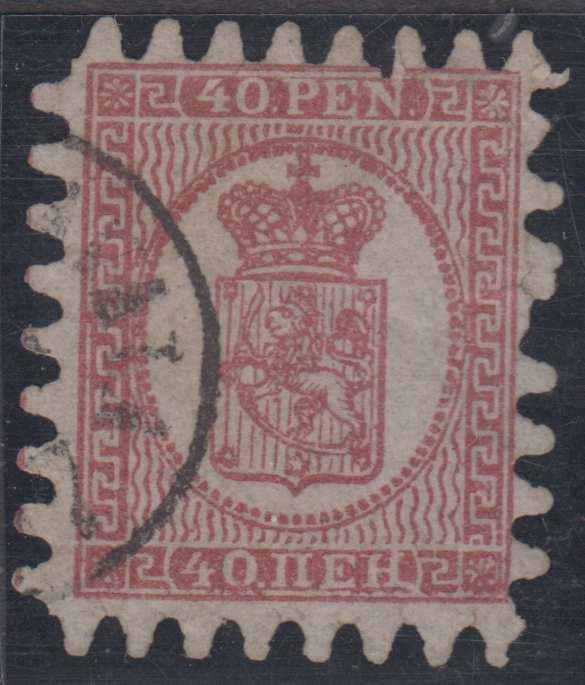 FINLAND Sc 10d CLARET Roulette I USED BY Cds VF SCV$200.00