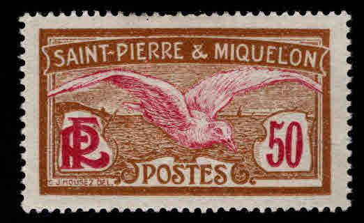 St. Pierre & Miquelon Scott 99 MH* from 1909-30 set