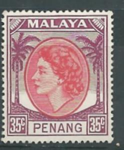 Malaya-Penang # 40 QE II - 35c   (1) Unused VLH