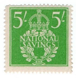 (I.B) Cinderella Collection : National Savings - Wreath 5/-