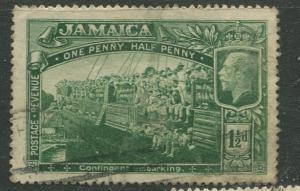 Jamaica -Scott 90 - KGV -1921 - Wmk 4 - Used - Single 1.1/2p Stamp