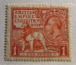 GREAT BRITAIN Scott #185 * MH British Empire Expo. fine + 102 card