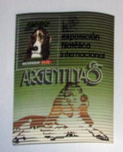 Nicaragua - 1464, MNH S/S, Comp. Argentina '85. SCV - $4.25