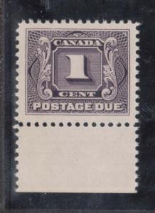 Canada #J1 NH Mint Superb Gem